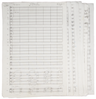A Woman's Life for Soprano Solo and Orchestra. Autograph musical manuscript full score. Richard...