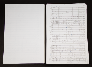 """A Woman's Life for Soprano Solo and Orchestra. Autograph musical manuscript full score signed """"R. Danielpour"""" and dated 2007 at upper right corner of page 1 and with """"Thanks be to God New York 9/25/2007"""" at conclusion. With text by the distinguished African-American poet, singer, memoirist, and civil rights activist Maya Angelou (1928-2014)."""