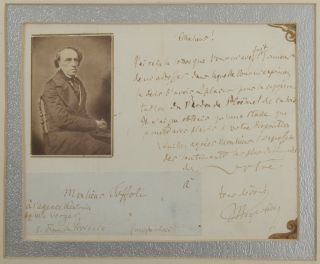 "Autograph letter signed ""Meyerbeer"" to the theatrical agent Toffoli, ""à l'agente théatrale de..."