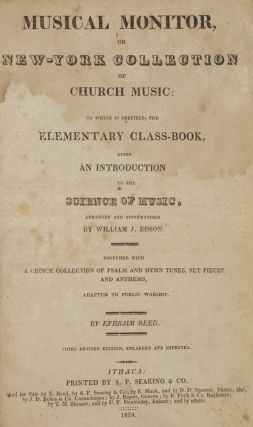 Musical Monitor, or New-York Collection of Church Music: to which is prefixed, the. Ephraim REED