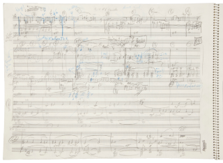 Through the Ancient Valley [Concerto No. 2 for Violoncello Soloist and Orchestra]. 2001. Autograph working musical manuscript score.