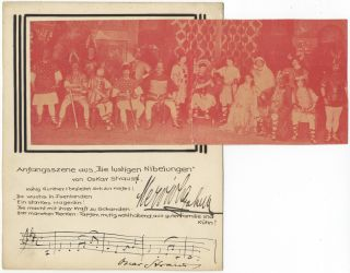 Autograph musical quotation signed. Oscar STRAUS.