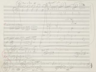 Concerto for Cello and Orchestra. Autograph working musical manuscript in score. Undated, but...