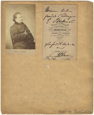 Original carte-de-visite photograph of the Italian conductor and composer seated, half-length, by...