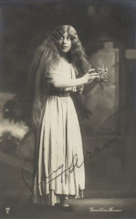 Attractive full-length postcard photograph, ca. 1910, of the important American soprano as...