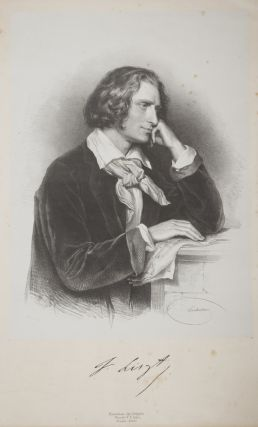An attractive half-length portrait by the noted Austrian lithographer Josef Kriehuber of the...