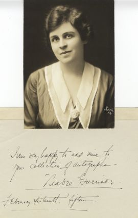 Autograph note signed and dated February 16, 1915, together with a bust-length Mishkin photograph...