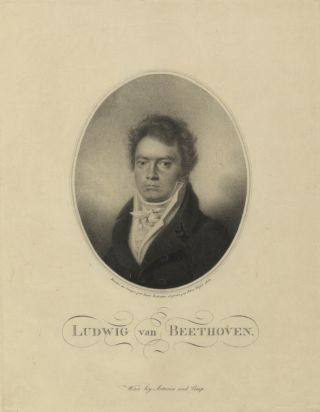 Fine oval portrait stipple engraving by Blasius Höfel (1792-1863) after the drawing by. Ludwig...