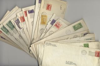 An interesting collection of 34 typed letters signed to American composer Lee Hoiby (1926-2011) written over an 11-year span, with dates ranging from January 10, 1946 to June 24, 1957, many quite detailed, some with autograph additions.