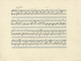 Autograph musical manuscript signed in full. Undated, but ca. 1840-1850. Charles MAYER