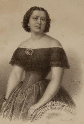 Lithographic portrait by Charles Vogt printed by Bertauts, Paris, 1855. Marietta ALBONI
