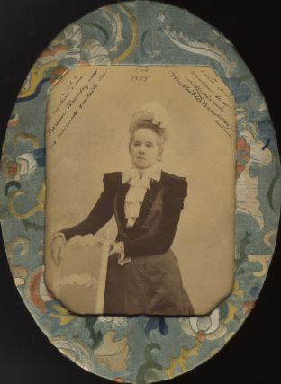 Cabinet card photograph by Benque in Paris. With autograph inscription to a pupil. Mathilde MARCHESI