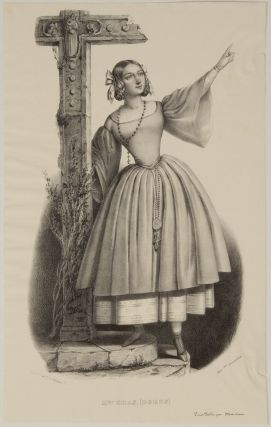 Role portrait as Isabella in Meyerbeer's Robert le Diable. Lithograph by Alexandre Lacauchie....