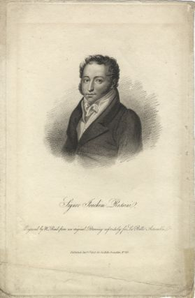 Portrait engraving by W. Read after a drawing by Louis Dupré. Gioachino ROSSINI