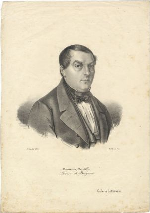 Portrait lithograph by Dolfino. Domenico DONZELLI