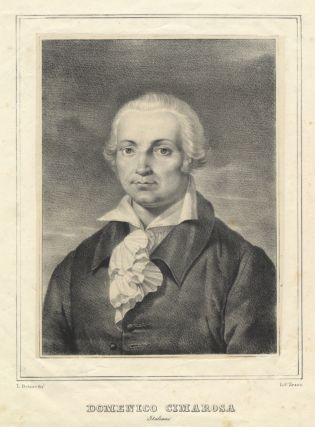 Portrait lithograph by Antonio Zezon after L. Deluise.
