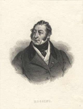 Portrait engraving after the painting by Hortense Haudebourt-Lescot. Gioachino ROSSINI