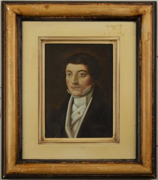 "Portrait painting in oil on board signed ""Brocchi"" after Vincenzo Camuccini. No date, but 20th century."