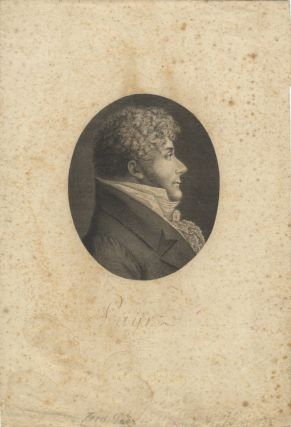 Portrait engraving after Edme Quenedey, ca. 1810-20. Ferdinando PAER