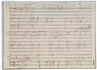 Pastime. A song cycle for baritone and orchestra. Autograph working manuscript. 2006. Richard b....