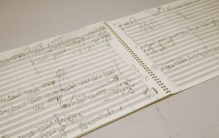 Pastime. A song cycle for baritone and orchestra. Autograph working manuscript. 2006.