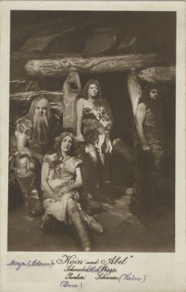 Role portrait postcard photograph of four characters from the 1914 production of Weingartner's....