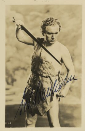 Role portrait postcard photograph with autograph signature of the Swedish tenor as Siegfried. Set...