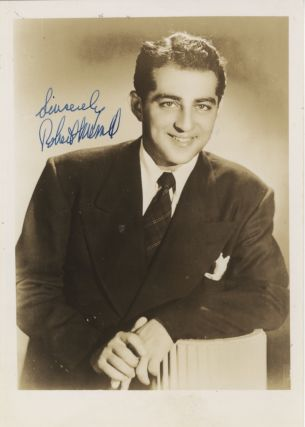 Studio portrait photograph with autograph signature of the noted American baritone. Robert MERRILL