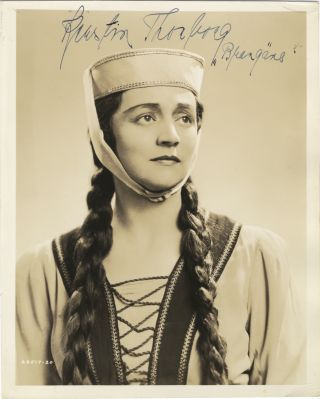 Role portrait photograph with autograph signature of the Swedish mezzo-soprano as Brangäne from....