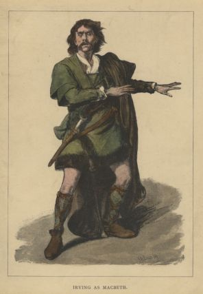 Role portrait as Macbeth. Hand-coloured engraving by Moritz Klinkicht after V.W. Bromley.