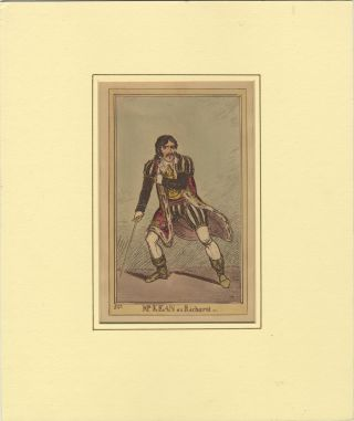 Role portrait as Richard III. Hand-coloured engraving by F.W. Pailthorpe after George Cruikshank....