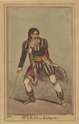 Role portrait as Richard III. Hand-coloured engraving by F.W. Pailthorpe after George Cruikshank.