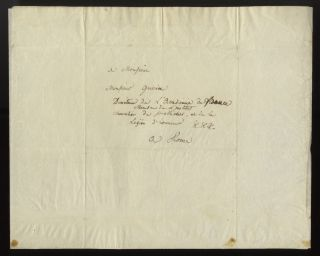 "Autograph letter signed ""Boieldieu"" to Pierre-Narcisse Guérin in Rome, September 18, 1823"