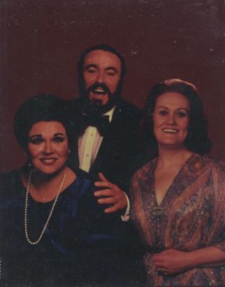 Photographic colour interpositive with Luciano Pavarotti and Joan Sutherland, ca. 1975