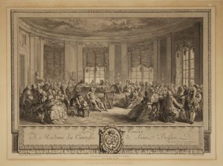 Le Concert A Madame La Comtesse de Saint Brisson. Engraving by Antoine Jean. FRANCE - 18th Century