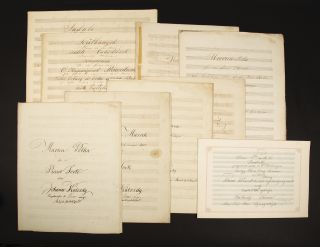 Collection of works for piano in manuscript, including two autographs. János KÁLOZDY