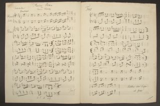 Collection of works for piano in manuscript, including two autographs