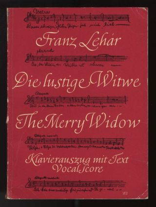 Die lustige Witwe. [Miniature piano-vocal score]. Franz LEHÁR