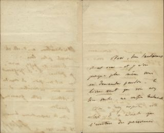 "Autograph letter signed ""F. Liszt."" To an unidentified female correspondent. Franz LISZT"