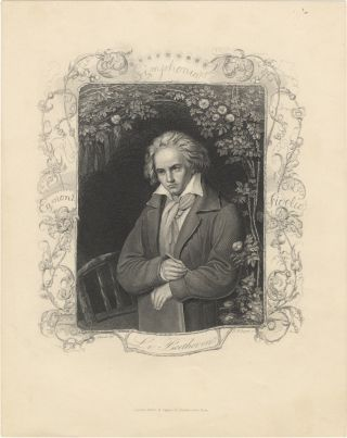 Portrait engraving by A.H. Payne after Storck. Ludwig van BEETHOVEN