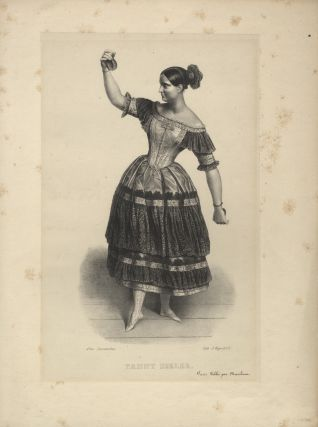 Full-length lithograph of Elssler by Alexandre Lacauchie in the role of Florinda in the ballet Le Diable Boiteux.
