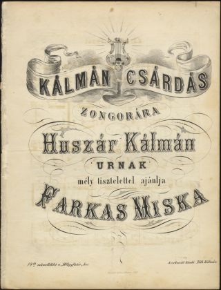 Collection of 4 csárdás for piano. Miska FARKAS