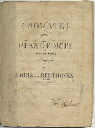Op. 24]. Sonate pour Pianoforte avec un Violon [Parts]. Ludwig van BEETHOVEN