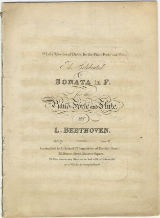 Op. 17]. The Celebrated Sonata in F [piano part only]. Ludwig van BEETHOVEN