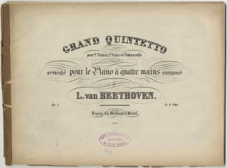 Op. 4; arr.]. Grand Quintetto [Piano 4-hands]. Ludwig van BEETHOVEN