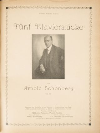 Op. 11 et al.]. Bound collection of 6 works for piano. Arnold SCHOENBERG