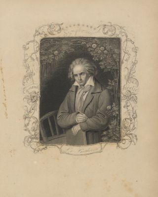 Portrait engraving by A. H. Payne after Storck. Ludwig van BEETHOVEN