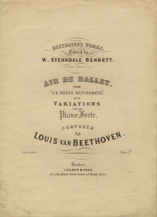 "WoO 68]. Air de Ballet, from ""Le Nozze Disturbate,"" with Variations for the Piano-Forte. Ludwig..."