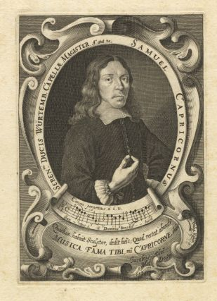 Fine portrait engraving by Philip Killian after the painting by Georg Nikolaus List. Dated 1659...