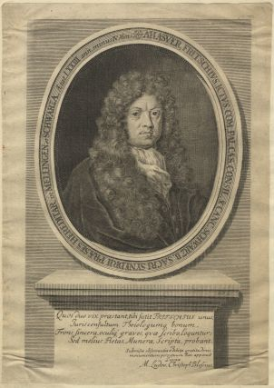 "Fine large portrait engraving signed ""M.B."" Ca. 1700. Ahasverus FRITSCH"